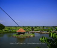 Top View dari tower flying fox Kusuma Tirta Minapolitan